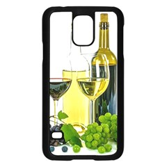 White Wine Red Wine The Bottle Samsung Galaxy S5 Case (black)