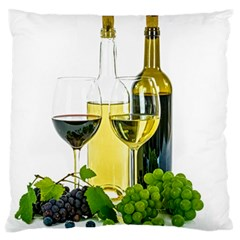 White Wine Red Wine The Bottle Large Flano Cushion Case (two Sides) by BangZart
