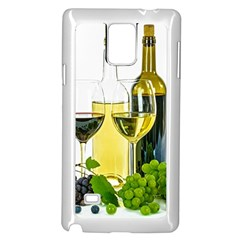 White Wine Red Wine The Bottle Samsung Galaxy Note 4 Case (white)