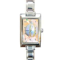 Sphere Tree White Gold Silver Rectangle Italian Charm Watch
