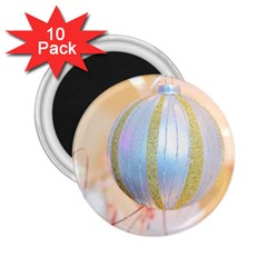 Sphere Tree White Gold Silver 2 25  Magnets (10 Pack)