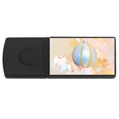 Sphere Tree White Gold Silver USB Flash Drive Rectangular (2 GB)