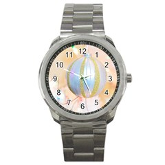 Sphere Tree White Gold Silver Sport Metal Watch by BangZart
