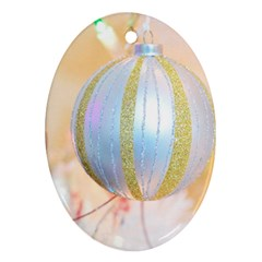 Sphere Tree White Gold Silver Oval Ornament (two Sides) by BangZart