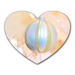 Sphere Tree White Gold Silver Heart Mousepads