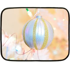 Sphere Tree White Gold Silver Fleece Blanket (mini) by BangZart