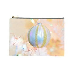Sphere Tree White Gold Silver Cosmetic Bag (large)