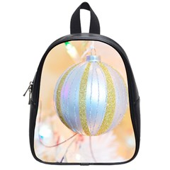 Sphere Tree White Gold Silver School Bags (small)  by BangZart