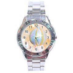Sphere Tree White Gold Silver Stainless Steel Analogue Watch by BangZart