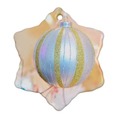 Sphere Tree White Gold Silver Snowflake Ornament (two Sides)