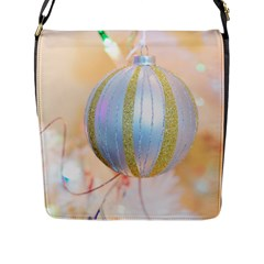 Sphere Tree White Gold Silver Flap Messenger Bag (l)  by BangZart