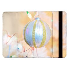 Sphere Tree White Gold Silver Samsung Galaxy Tab Pro 12 2  Flip Case