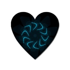 Background Abstract Decorative Heart Magnet by BangZart