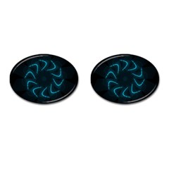 Background Abstract Decorative Cufflinks (oval) by BangZart