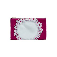 Photo Frame Transparent Background Cosmetic Bag (small)
