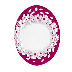 Photo Frame Transparent Background Oval Filigree Ornament (two Sides)