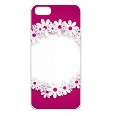Photo Frame Transparent Background Apple Iphone 5 Seamless Case (white)