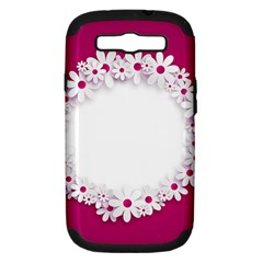 Photo Frame Transparent Background Samsung Galaxy S Iii Hardshell Case (pc+silicone)