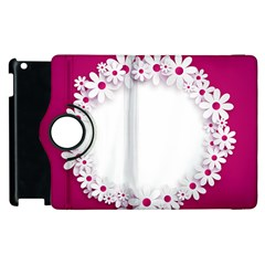 Photo Frame Transparent Background Apple Ipad 3/4 Flip 360 Case by BangZart