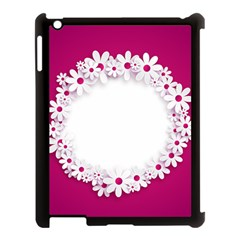 Photo Frame Transparent Background Apple Ipad 3/4 Case (black) by BangZart