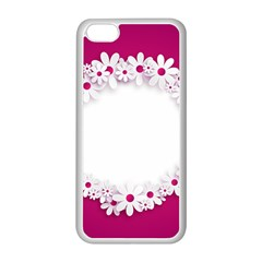 Photo Frame Transparent Background Apple Iphone 5c Seamless Case (white)