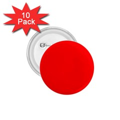 Solid Christmas Red Velvet 1 75  Buttons (10 Pack) by PodArtist
