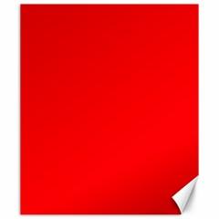 Solid Christmas Red Velvet Canvas 20  X 24   by PodArtist