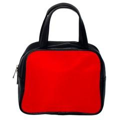 Solid Christmas Red Velvet Classic Handbags (one Side) by PodArtist
