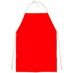 Solid Christmas Red Velvet Full Print Aprons by PodArtist