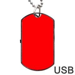 Solid Christmas Red Velvet Dog Tag Usb Flash (one Side) by PodArtist