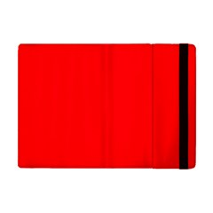 Solid Christmas Red Velvet Apple Ipad Mini Flip Case by PodArtist