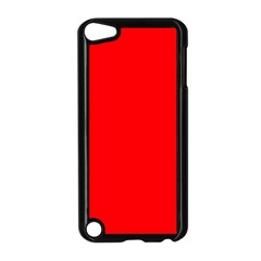 Solid Christmas Red Velvet Apple Ipod Touch 5 Case (black) by PodArtist