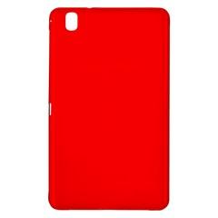 Solid Christmas Red Velvet Samsung Galaxy Tab Pro 8 4 Hardshell Case by PodArtist