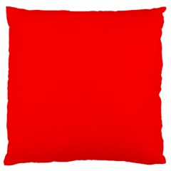 Solid Christmas Red Velvet Large Flano Cushion Case (one Side) by PodArtist
