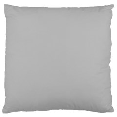 Solid Christmas Silver Large Flano Cushion Case (one Side)
