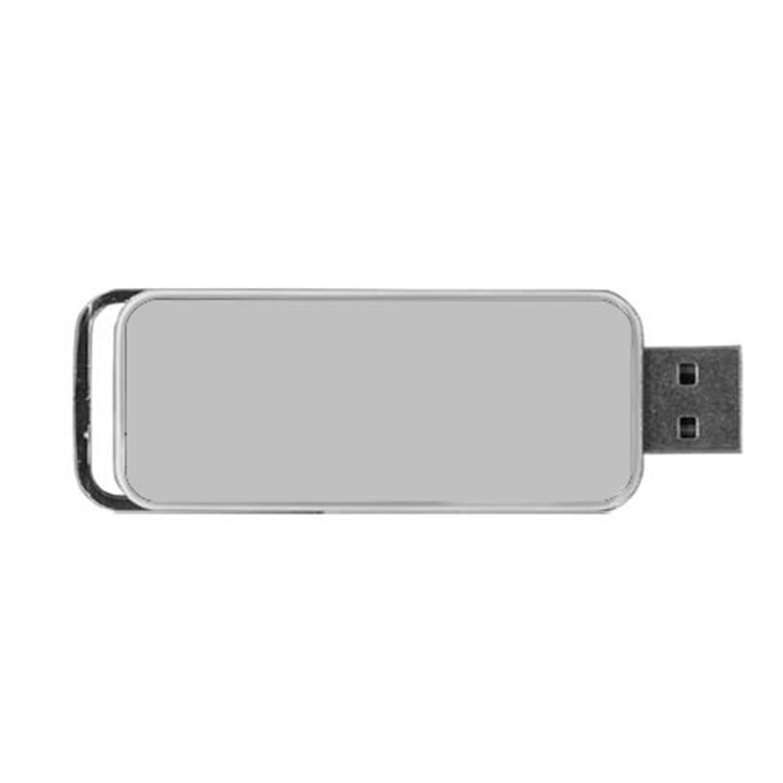 Solid Christmas Silver Portable USB Flash (One Side)