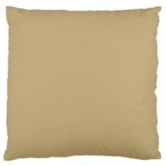 Solid Christmas Gold Standard Flano Cushion Case (one Side) by PodArtist