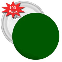 Solid Christmas Green Velvet Classic Colors 3  Buttons (100 Pack)  by PodArtist