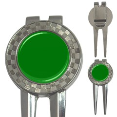 Solid Christmas Green Velvet Classic Colors 3 In 1 Golf Divots by PodArtist