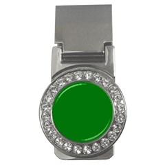Solid Christmas Green Velvet Classic Colors Money Clips (cz)  by PodArtist