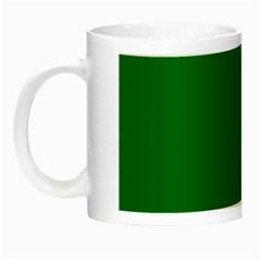 Solid Christmas Green Velvet Classic Colors Night Luminous Mugs by PodArtist