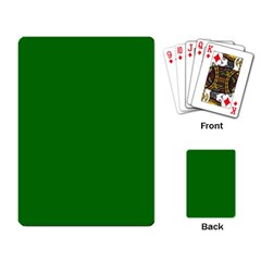Solid Christmas Green Velvet Classic Colors Playing Card by PodArtist
