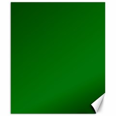 Solid Christmas Green Velvet Classic Colors Canvas 20  X 24   by PodArtist