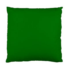 Solid Christmas Green Velvet Classic Colors Standard Cushion Case (two Sides) by PodArtist