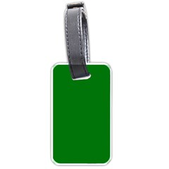 Solid Christmas Green Velvet Classic Colors Luggage Tags (two Sides) by PodArtist