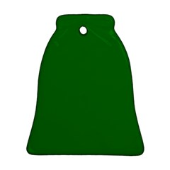 Solid Christmas Green Velvet Classic Colors Bell Ornament (two Sides) by PodArtist
