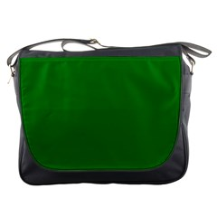 Solid Christmas Green Velvet Classic Colors Messenger Bags by PodArtist
