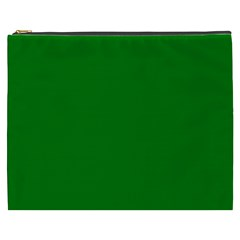 Solid Christmas Green Velvet Classic Colors Cosmetic Bag (xxxl)  by PodArtist