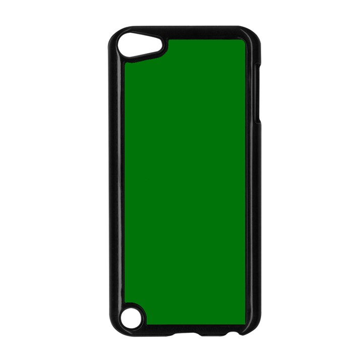 Solid Christmas Green Velvet Classic Colors Apple iPod Touch 5 Case (Black)
