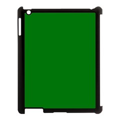 Solid Christmas Green Velvet Classic Colors Apple Ipad 3/4 Case (black) by PodArtist